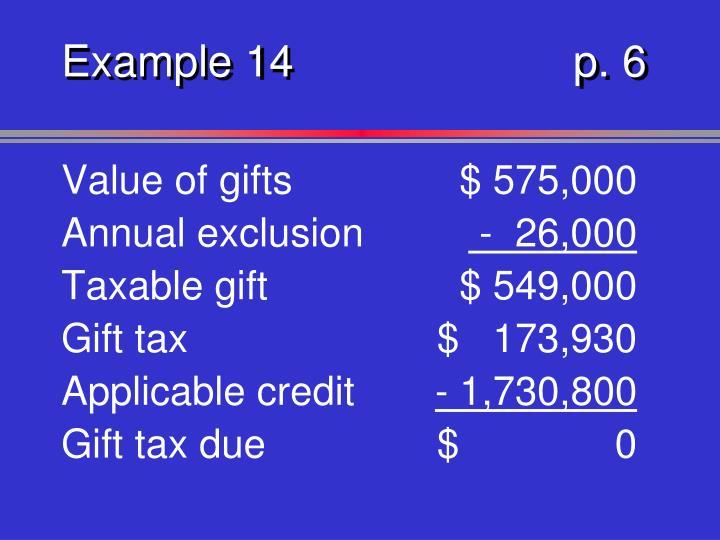 Example 14p. 6