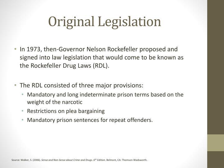 Original Legislation