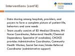 interventions cont d