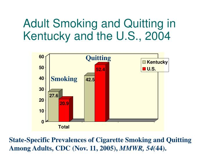 Adult Smoking and Quitting in Kentucky and the U.S., 2004