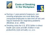 costs of smoking in the workplace
