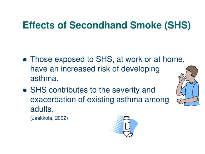 Effects of Secondhand Smoke (SHS)