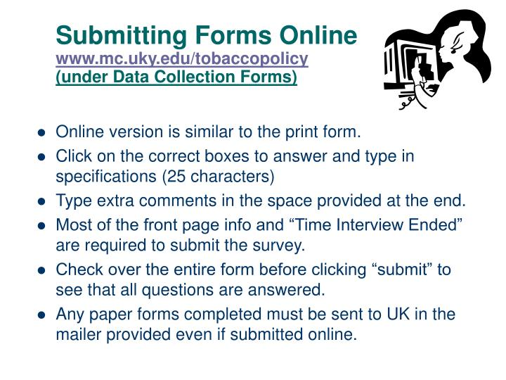 Submitting Forms Online