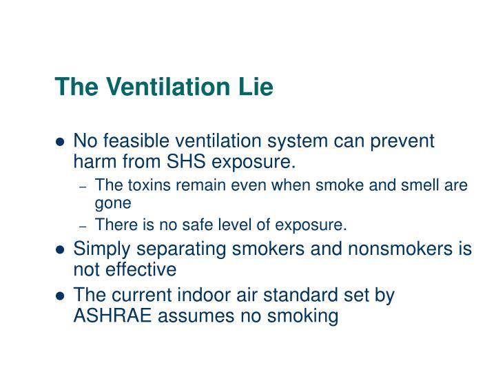 The Ventilation Lie