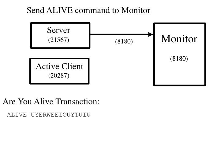 Send ALIVE command to Monitor