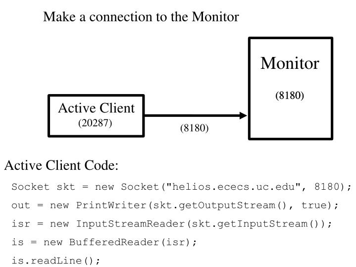 Make a connection to the Monitor