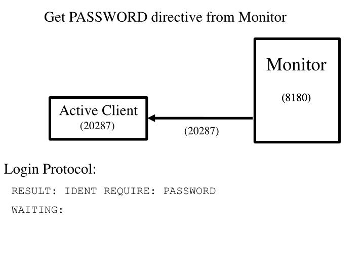 Get PASSWORD directive from Monitor