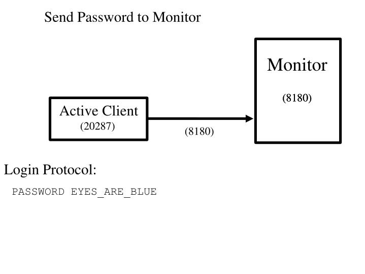 Send Password to Monitor