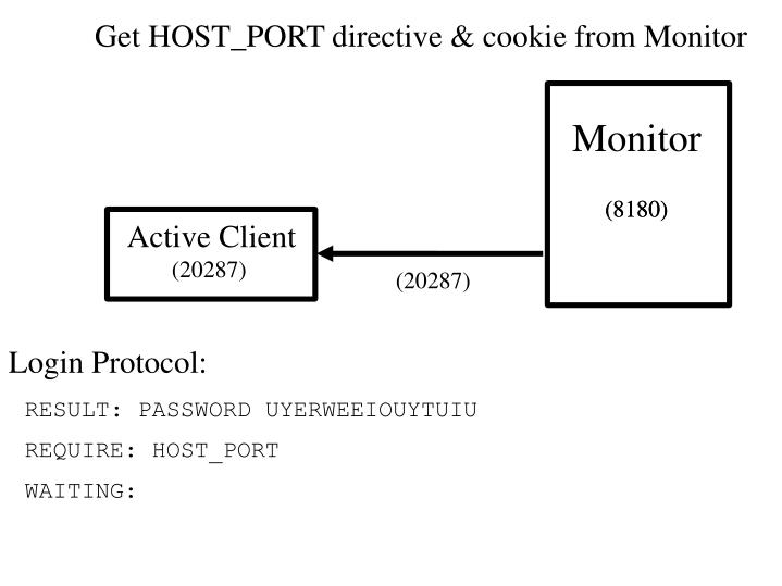 Get HOST_PORT directive & cookie from Monitor