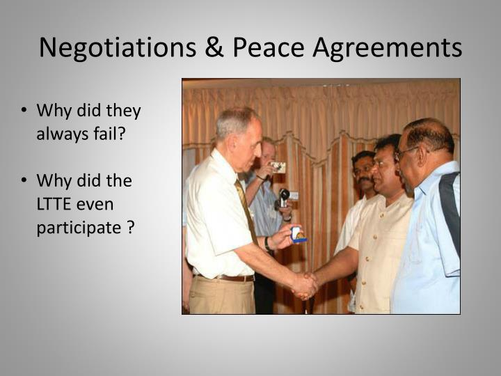 Negotiations & Peace Agreements