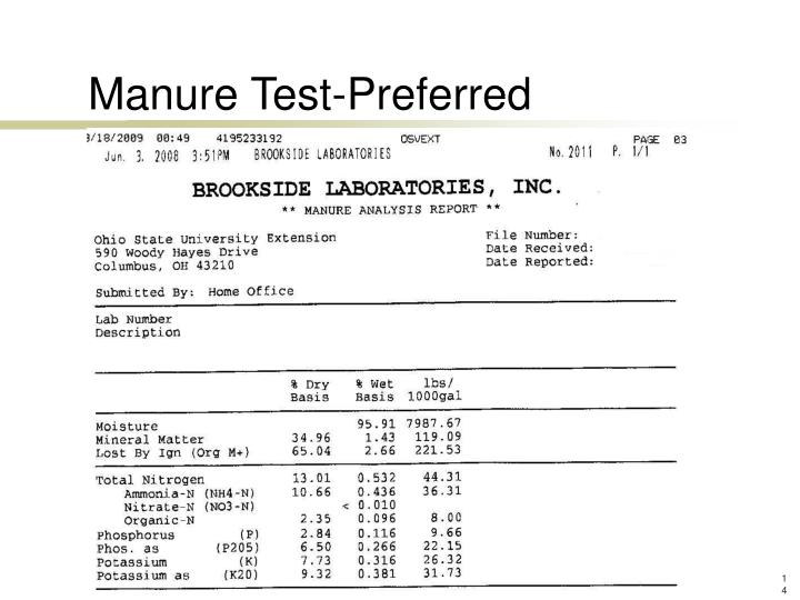 Manure Test-Preferred