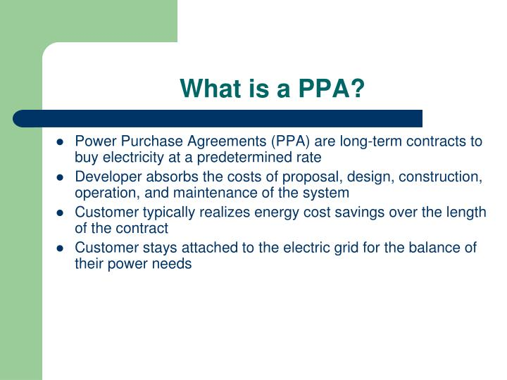 What is a ppa