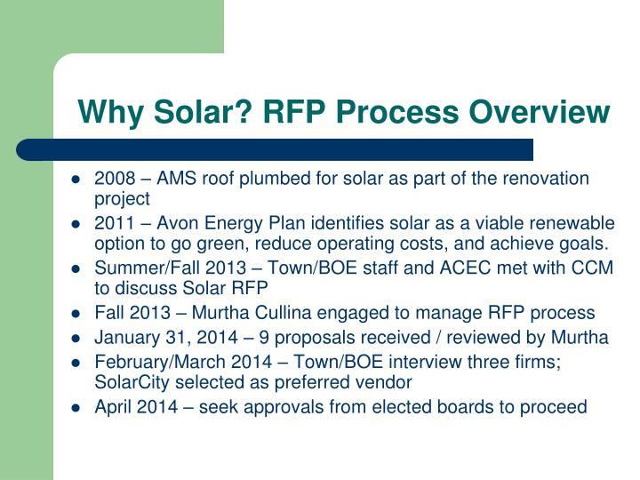 Why solar rfp process overview