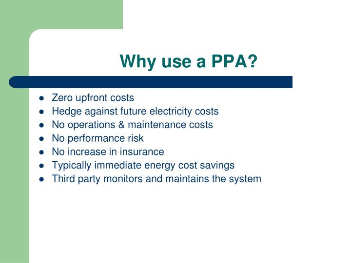 Why use a PPA?