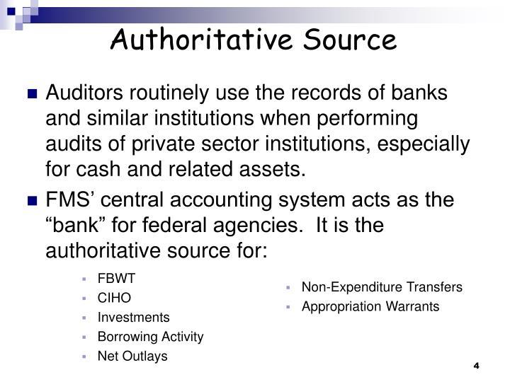 Authoritative Source