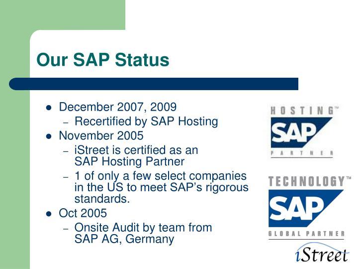 Our SAP Status