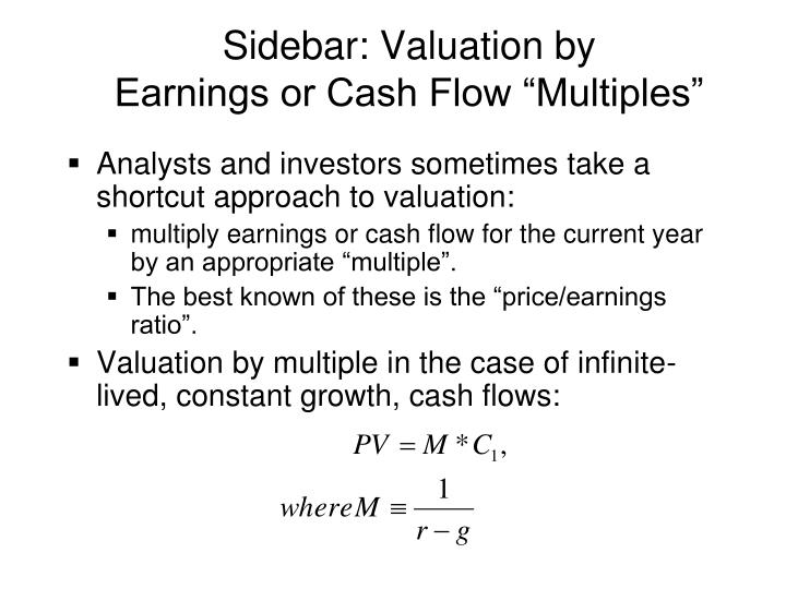 Sidebar: Valuation by