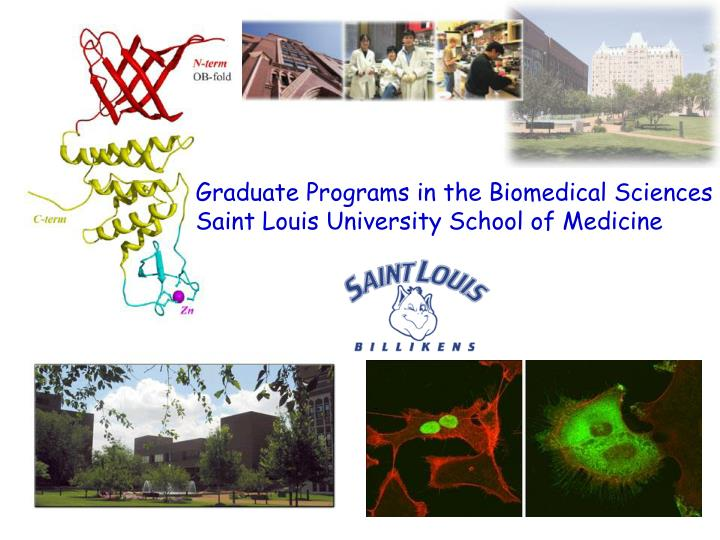 Graduate Programs in the Biomedical Sciences