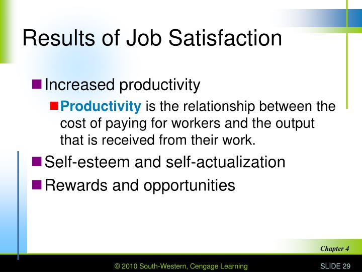 Results of Job Satisfaction