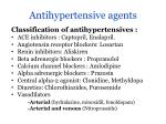 antihypertensive agents1