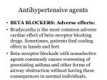 antihypertensive agents10