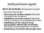 antihypertensive agents8