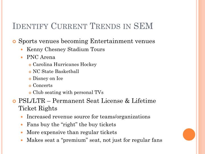 Identify Current Trends in SEM
