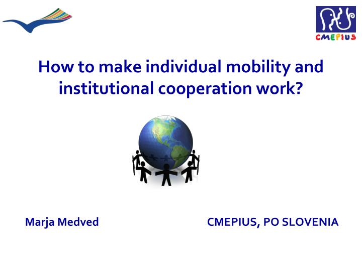 How to make individual mobility and institutional cooperation work