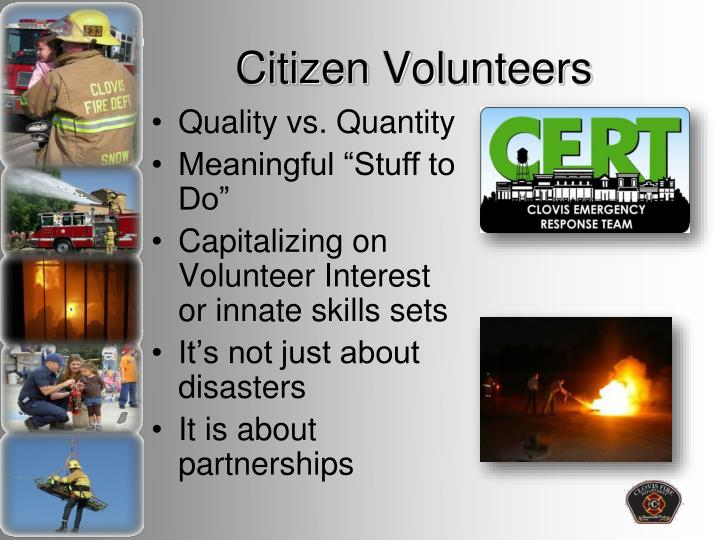 Citizen volunteers