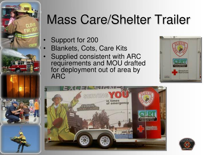 Mass Care/Shelter Trailer