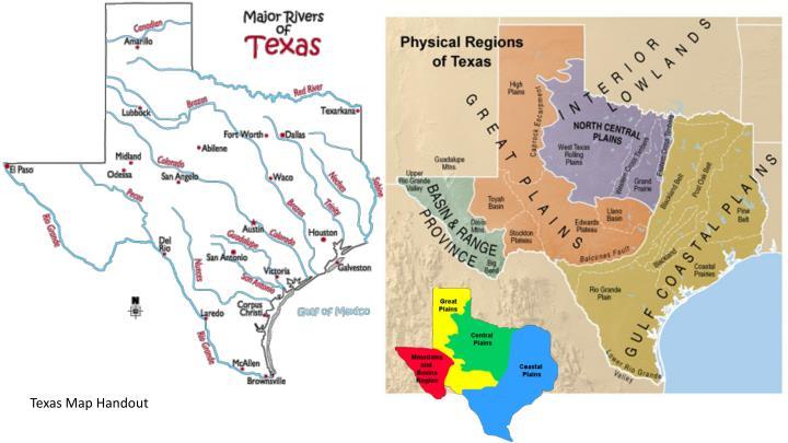 Texas Map Handout