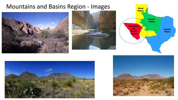 Mountains and Basins Region - Images
