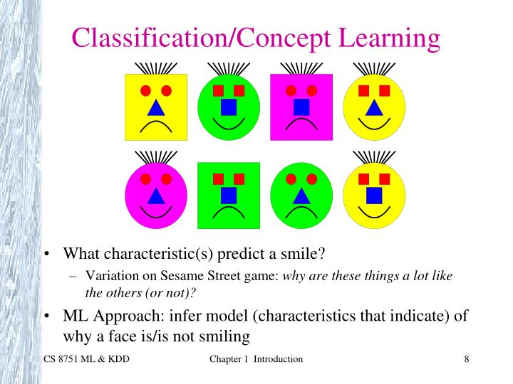 Classification/Concept Learning