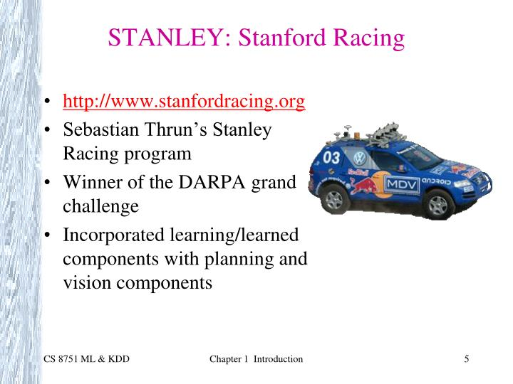 STANLEY: Stanford Racing