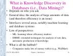 what is knowledge discovery in databases i e data mining