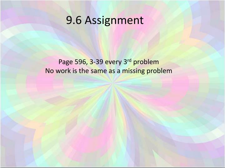 9.6 Assignment