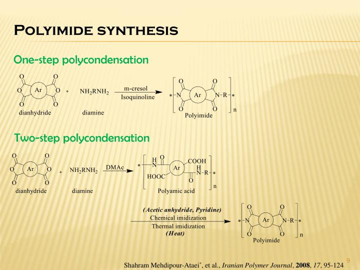 Polyimide synthesis