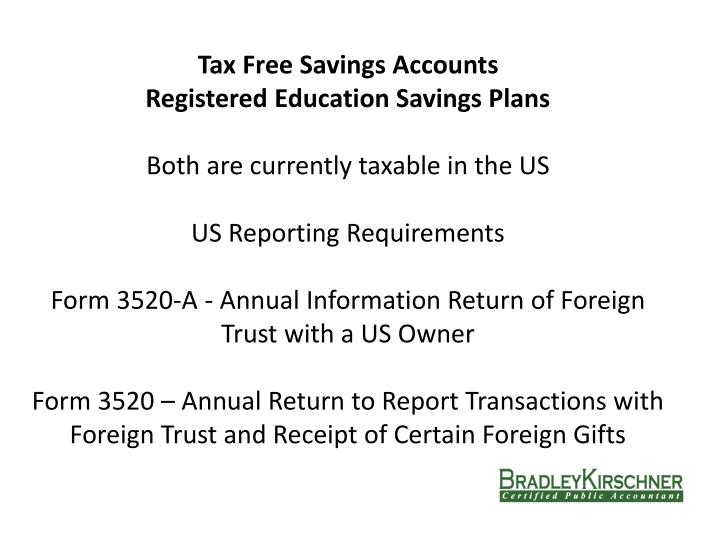 Tax Free Savings Accounts