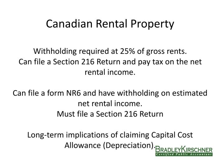 Canadian Rental