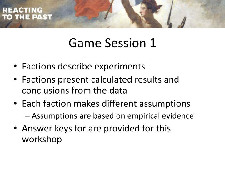 Game Session 1