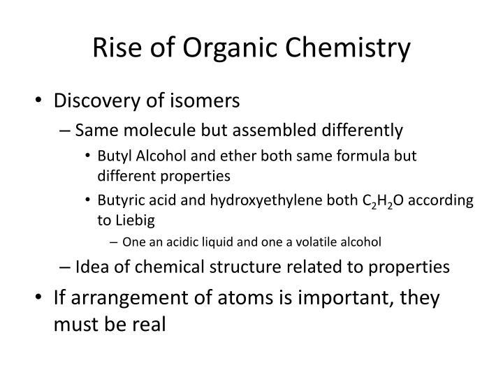 Rise of Organic Chemistry
