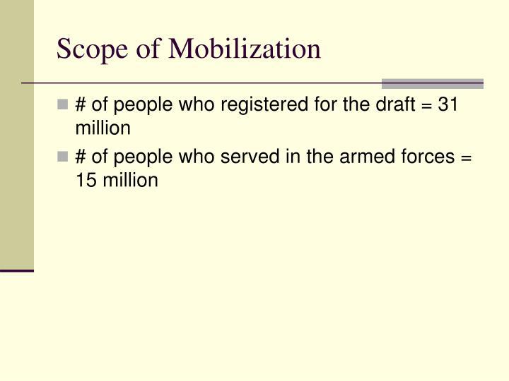 Scope of Mobilization