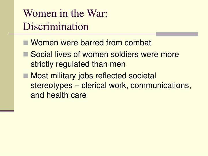 Women in the War: