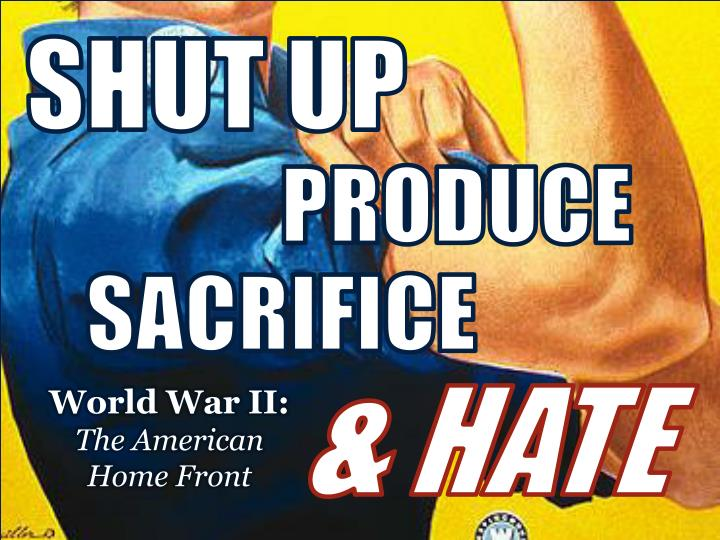 World war ii the american home front