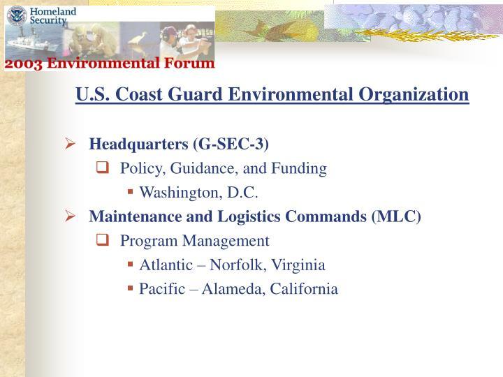 U.S. Coast Guard Environmental Organization