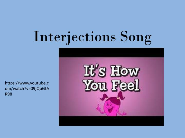 Interjections Song