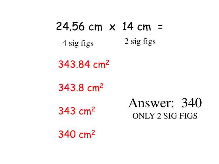 24.56 cm  x  14 cm  =