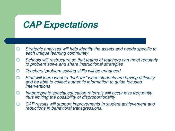 CAP Expectations