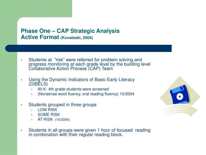 Phase One – CAP Strategic Analysis