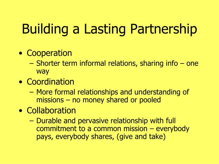 Building a Lasting Partnership